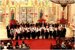 "The Irmos Choir performing at the ""Concert of Carols"" in 2009"