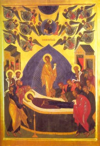 The Dormition of the Mother of God is an image of our death.