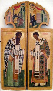 The Annunciation icon is found on top of the Royal Doors on our churchs' Iconostasi.