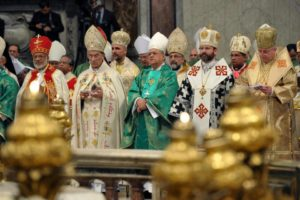 Bishops from Churches of various Liturgical Traditions concelebrating in Rome.